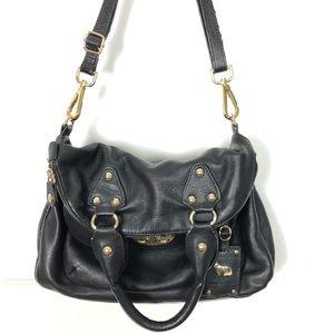 Emma Fox Leather Fold Over Crossbody Shoulder Bag